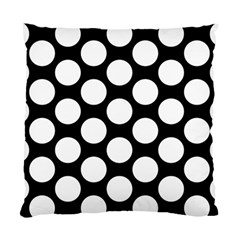 Black And White Polkadot Cushion Case (two Sided)  by Zandiepants