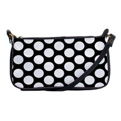 Black And White Polkadot Evening Bag