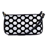 Black And White Polkadot Evening Bag Front