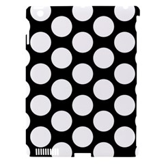 Black And White Polkadot Apple Ipad 3/4 Hardshell Case (compatible With Smart Cover) by Zandiepants
