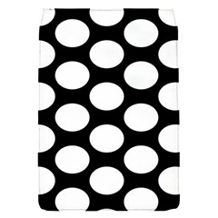 Black And White Polkadot Removable Flap Cover (small) by Zandiepants