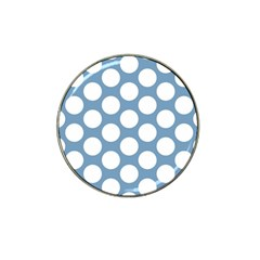 Blue Polkadot Golf Ball Marker (for Hat Clip) by Zandiepants