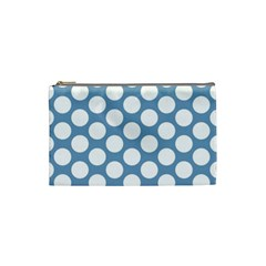 Blue Polkadot Cosmetic Bag (small)