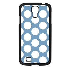 Blue Polkadot Samsung Galaxy S4 I9500/ I9505 Case (black) by Zandiepants