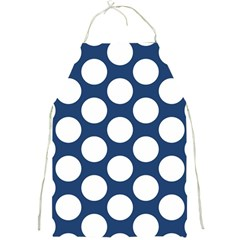 Dark Blue Polkadot Apron by Zandiepants