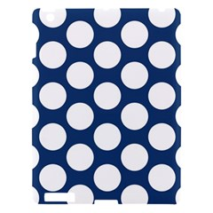 Dark Blue Polkadot Apple Ipad 3/4 Hardshell Case by Zandiepants