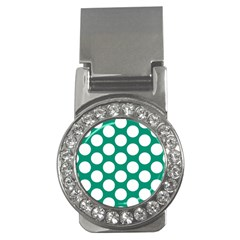 Emerald Green Polkadot Money Clip (cz) by Zandiepants