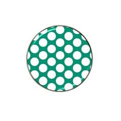 Emerald Green Polkadot Golf Ball Marker (for Hat Clip) by Zandiepants