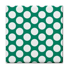 Emerald Green Polkadot Face Towel by Zandiepants