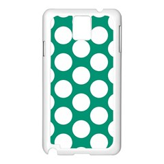 Emerald Green Polkadot Samsung Galaxy Note 3 N9005 Case (white) by Zandiepants