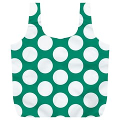 Emerald Green Polkadot Reusable Bag (xl) by Zandiepants