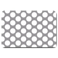 Grey Polkadot Large Door Mat by Zandiepants