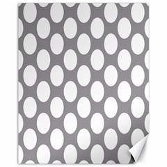 Grey Polkadot Canvas 11  X 14  (unframed) by Zandiepants