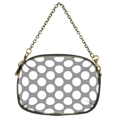 Grey Polkadot Chain Purse (one Side) by Zandiepants