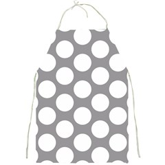 Grey Polkadot Apron by Zandiepants