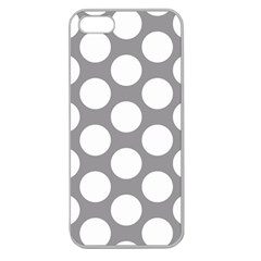 Grey Polkadot Apple Seamless Iphone 5 Case (clear) by Zandiepants