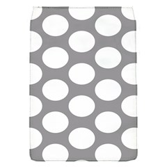 Grey Polkadot Removable Flap Cover (small) by Zandiepants