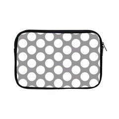 Grey Polkadot Apple Ipad Mini Zippered Sleeve by Zandiepants