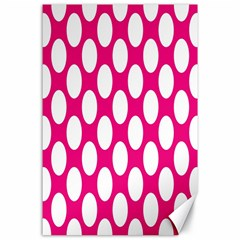Pink Polkadot Canvas 24  X 36  (unframed)