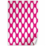 Pink Polkadot Canvas 24  x 36  (Unframed) 36 x24 Canvas - 1