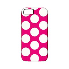 Pink Polkadot Apple Iphone 5 Classic Hardshell Case (pc+silicone) by Zandiepants