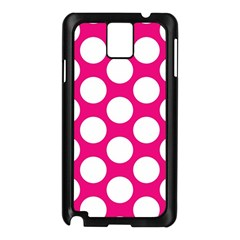 Pink Polkadot Samsung Galaxy Note 3 N9005 Case (black) by Zandiepants