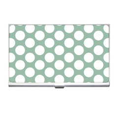 Jade Green Polkadot Business Card Holder