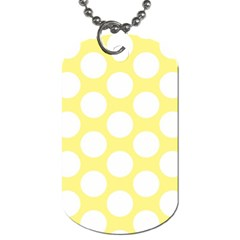 Yellow Polkadot Dog Tag (two Sided)  by Zandiepants