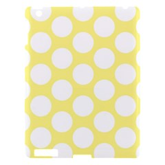 Yellow Polkadot Apple Ipad 3/4 Hardshell Case by Zandiepants