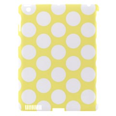 Yellow Polkadot Apple Ipad 3/4 Hardshell Case (compatible With Smart Cover) by Zandiepants