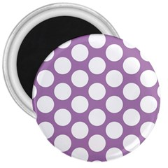 Lilac Polkadot 3  Button Magnet by Zandiepants