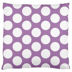 Lilac Polkadot Large Cushion Case (single Sided)  by Zandiepants