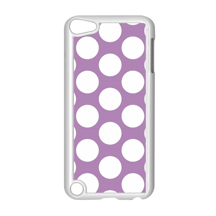 Lilac Polkadot Apple iPod Touch 5 Case (White)