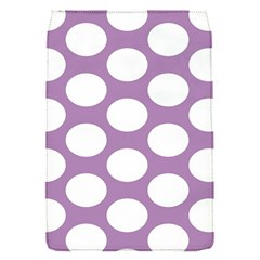 Lilac Polkadot Removable Flap Cover (small) by Zandiepants