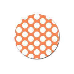 Orange Polkadot Magnet 3  (round) by Zandiepants