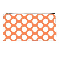 Orange Polkadot Pencil Case by Zandiepants