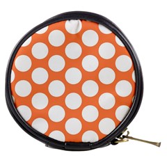 Orange Polkadot Mini Makeup Case by Zandiepants