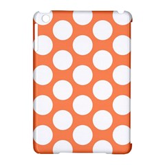 Orange Polkadot Apple Ipad Mini Hardshell Case (compatible With Smart Cover) by Zandiepants