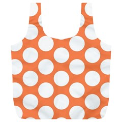 Orange Polkadot Reusable Bag (xl) by Zandiepants