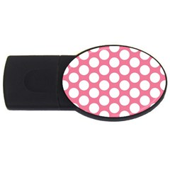 Pink Polkadot 2gb Usb Flash Drive (oval) by Zandiepants