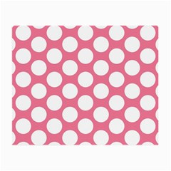 Pink Polkadot Glasses Cloth (small, Two Sided) by Zandiepants