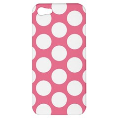 Pink Polkadot Apple Iphone 5 Hardshell Case by Zandiepants