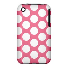 Pink Polkadot Apple Iphone 3g/3gs Hardshell Case (pc+silicone) by Zandiepants