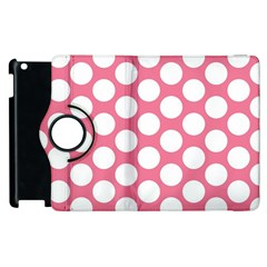 Pink Polkadot Apple Ipad 2 Flip 360 Case