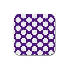 Purple Polkadot Drink Coaster (square) by Zandiepants