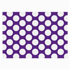 Purple Polkadot Glasses Cloth (large)