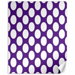 Purple Polkadot Canvas 11  X 14  (unframed) by Zandiepants