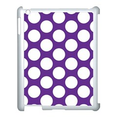 Purple Polkadot Apple Ipad 3/4 Case (white) by Zandiepants