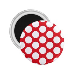 Red Polkadot 2 25  Button Magnet by Zandiepants