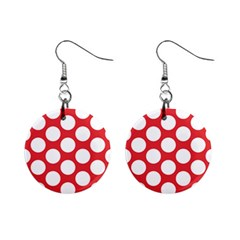 Red Polkadot Mini Button Earrings by Zandiepants